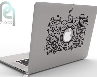 Creative artistic photo camera macbook or laptop decal, sticker SKU-PPMD122