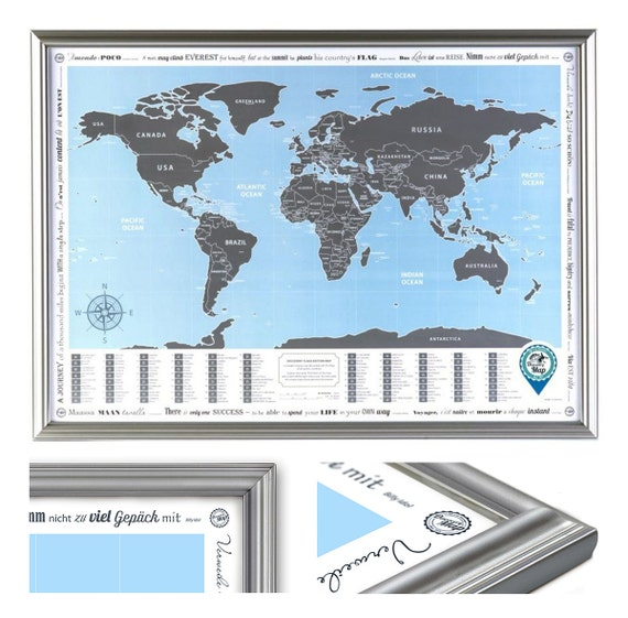 Framed World Map With Scratch Off Flags Edition ORIGINAL - Scratch world map us manaufacturuer