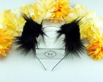 Black minies [ kitten ears ]