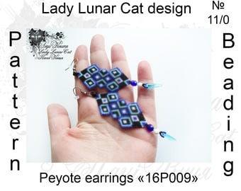Peyote  earrings pattern, Brick stitch patterns, White blue magenta pink, Colorful patterns, Beading patterns, Beadwork patterns