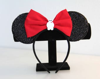 SALE! Handmade Baymax Mickey Ears with Red Bow - Theme Park Ears