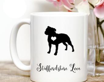Staffordshire Bull Terrier Love Coffee Mug