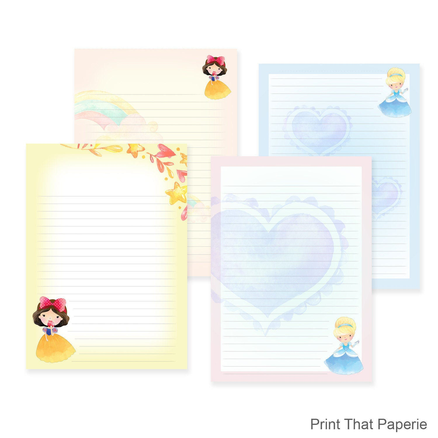 Printable Writing Paper Stationary Paper Letter Writing Set – Print Writing Paper