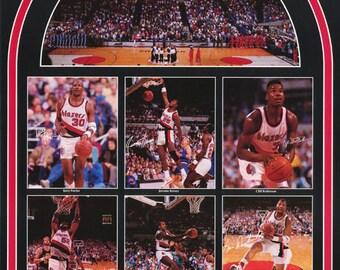 Portland Trailblazers All Stars 1990 Poster