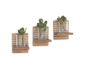 floating shelves succulent planters succulent wall planter votive candle holder candle wall