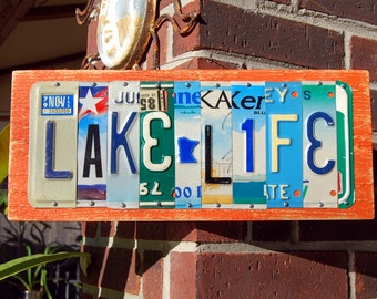 Beach license plate etsy for Day fishing license