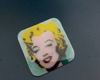 Andy Warhol Marilyn Monroe brooch , pop art pin