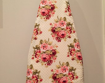 Ironing Board Cover/Roses Ironing Board Cover/Floral Laundry Room Decor/Floral Ironing Board Cover/Red Roses Laundry Decor