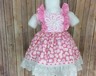 OOAK  Pretty in pink dress  size 2