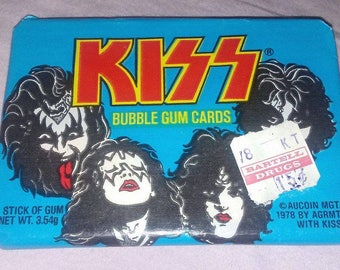 KISS trading cards 1978 Donruss sealed unopened pack Kiss