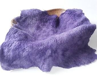 Photo Prop 100% Hand Felted, Hand Dyed Merino Wool Layer, Felt Piece in Dark Purple Shades, RTS