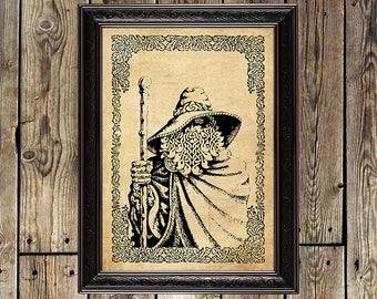 Odin print, Viking print, Wotan, Valhalla, norse art, Pagan, Burzum, mythology, scandinavian God, Ragnarok, myth, Odin, shaman, print,171