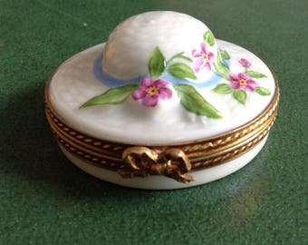 Limoges Collectible Box Spring Hat