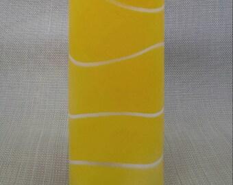 Modern Yellow Vase/Round Yellow Vase/Yellow Glass Vase/Tall Glass Vase/Yellow Bathroom Vase/Yellow Home Decor/Yellow Vase/Bridesmaid Gift
