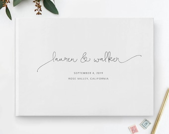 White Wedding Guest Book, Rose Gold Guest Book, Grey Guestbook, Wedding Guestbook, Photo Guest Book, Wedding Album, Photo Guest Book, 08