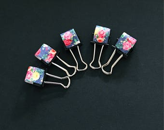 Elastic pen loop - floral planner clip - pen loop - pen clip - fauxdori pen loop - planner supplies - planner accessories - TN accessori