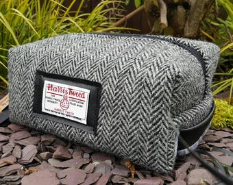 Harris Tweed Mens Toiletry Bag ... ideal fathersday gift or birthday gift