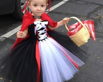 Little Red Riding Hood Costume - little red riding hood dress - tutu dress - halloween costume - little red riding hood tutu dress