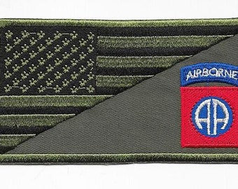 US Army Vietnam era 82nd Airborne Infantry Division All American acu Subdued Patch  VELCRO