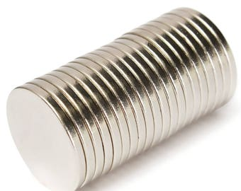 20PCS 12mm x 2mm Disc Rare Earth Neodymium Magnet N52 Great for Crafts Models USA Seller