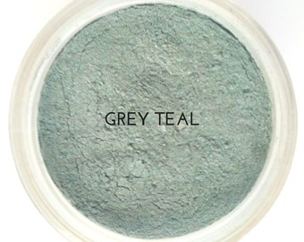 Mineral Eyeshadow Grey Eyeshadow Teal Mineral Makeup Cruelty Free Makeup Vegan Cosmetics Natural Makeup Long Lasting Modern Ecoluxe Toronto