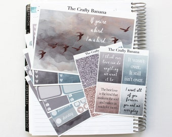 The Notebook Planner Stickers - Inspired by The Notebook - Movie Planner Stickers - 8 Sticker Sheets