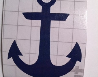 Navy Anchor Vinyl Decal
