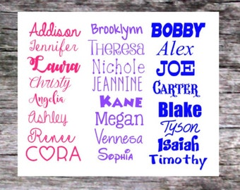 Personalized Name Decal, Any Word Decal, Custom Decal, Words Decal, Vinyl Word Decal, Name Monogram, Name Sticker, Personalized Decal