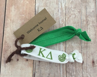 Kappa Delta Sorority Hair Ties; Kappa Delta Bid Day Bag Accessory; Big Little Reveal; Little Gift; Sorority Gift
