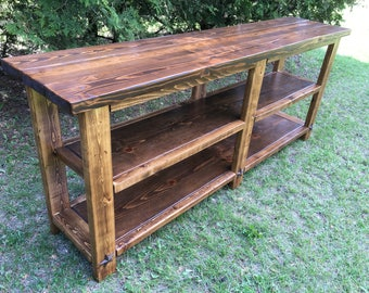 Farmhouse Rustic Counsel Table--Custom