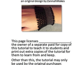 Teaching Licence for Beading  Photo Tutorial Pattern Instructions Vintage Lace Beaded Bracelet Cuff Netting Steampunk