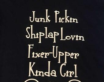 Shiplap Junkin Fixer Upper Shirt