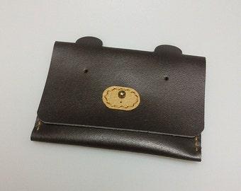 Leather, Card Wallet, bear card case, card holder