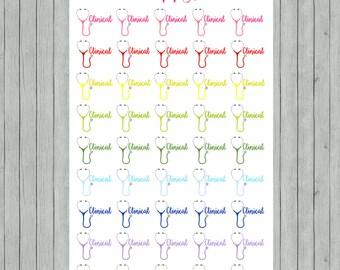 Rainbow Stethoscope Nursing School, Medical Clinical Stickers for Erin Condren, Plum Paper Planners (150)