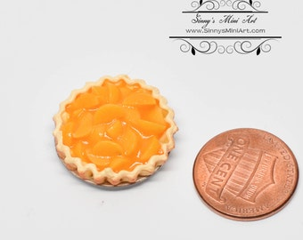 1:12 Dollhouse Miniature Fresh Peach Pie/ Miniature Bakery BD K1508