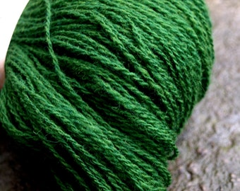 Green, Grass Green, Dark Green 100% Natural Wool Yarn 100g