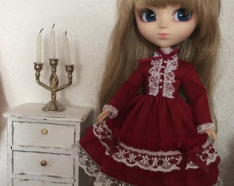 Red  Lolita Dress  for  Blythe  and  pullip