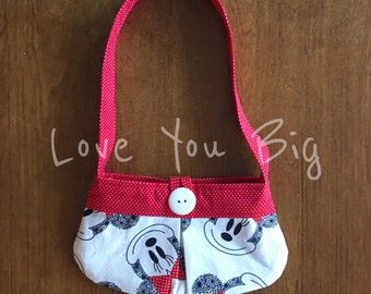 Little Girls Purse made from Minnie Mouse  Fabric