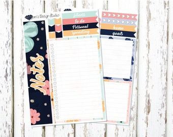 Planner Gal Notes Page Kit