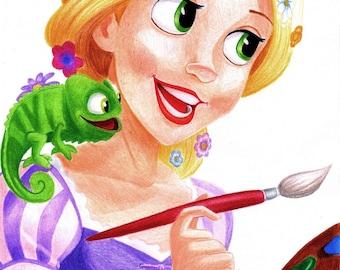 Rapunzel Drawing