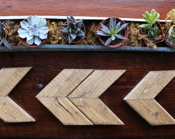 Small Wooden Arrow (Double) // Rustic Home Decor // Farmhouse // Modern Decor // Desk Decor // Office Decor // Hipster // Barn wood Decor