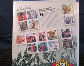 """Vintage 1998 """"Celebrate the Century 1910's"""" #2 of 10 Collector U.S. Postage Stamps. Free Shipping."""