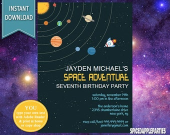 il_340x270.1115877910_423l space invites etsy,Space Birthday Party Invitations