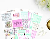 Paris Sticker Kit, for use with Erin Condren, Life Planner, Mambi, Happy Planner, Planner Stickers, Stickers
