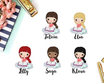Plan, Planning Time, Stickers | Girl (matte planner stickers, perfect for planners)