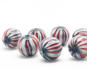 Art Glass Beads - Lampwork Glass Beads - Glass Jewelry - Lampwork Focal Bead - Lampwork Beads - Loose Glass Beads - Geometric Necklace
