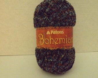 Patons Bohemian Yarn ~ #6 Super Bulky~ Colour: Indigo Indulgence~ 80 grams
