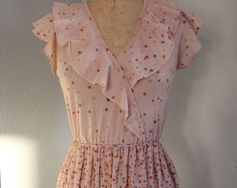 Vintage 70s Dots Summer Dress