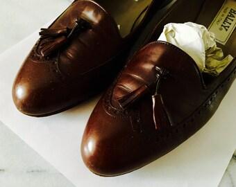 Vintage Bally Baroque Tassel Loafers Sz. 7