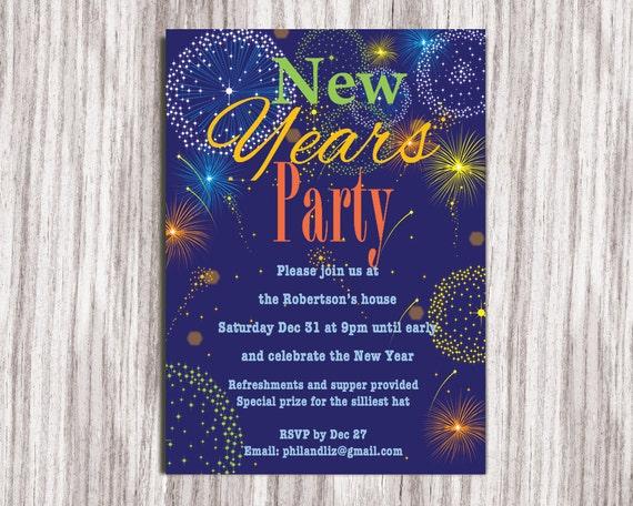 New Years Party Invitation Party Invitation New Years Eve  New Years Party...